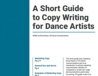 A guide to writing copy for dance